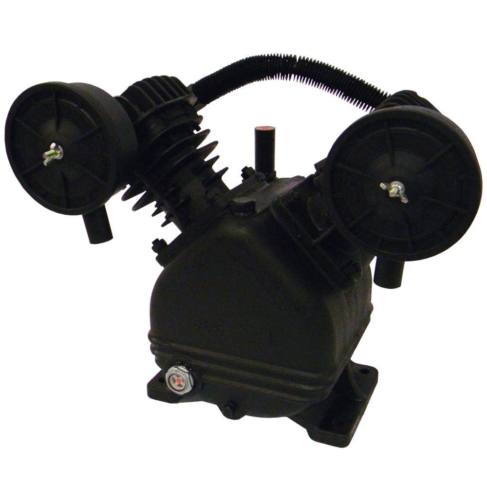 null V-Twin Cylinder Oil Lubricated Belt Drive Cast Iron Air Compressor Pump-DISCONTINUED