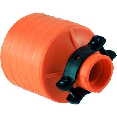 Heavy Duty Connector Grounded with Black Metal Clamp, Orange