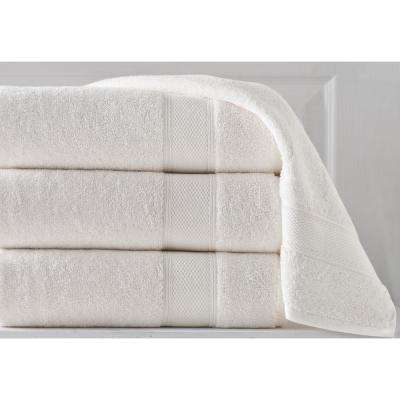 36 in. x 72 in. Pinehurst Turkish 100% Organic Cotton Bath Sheet in Ivory