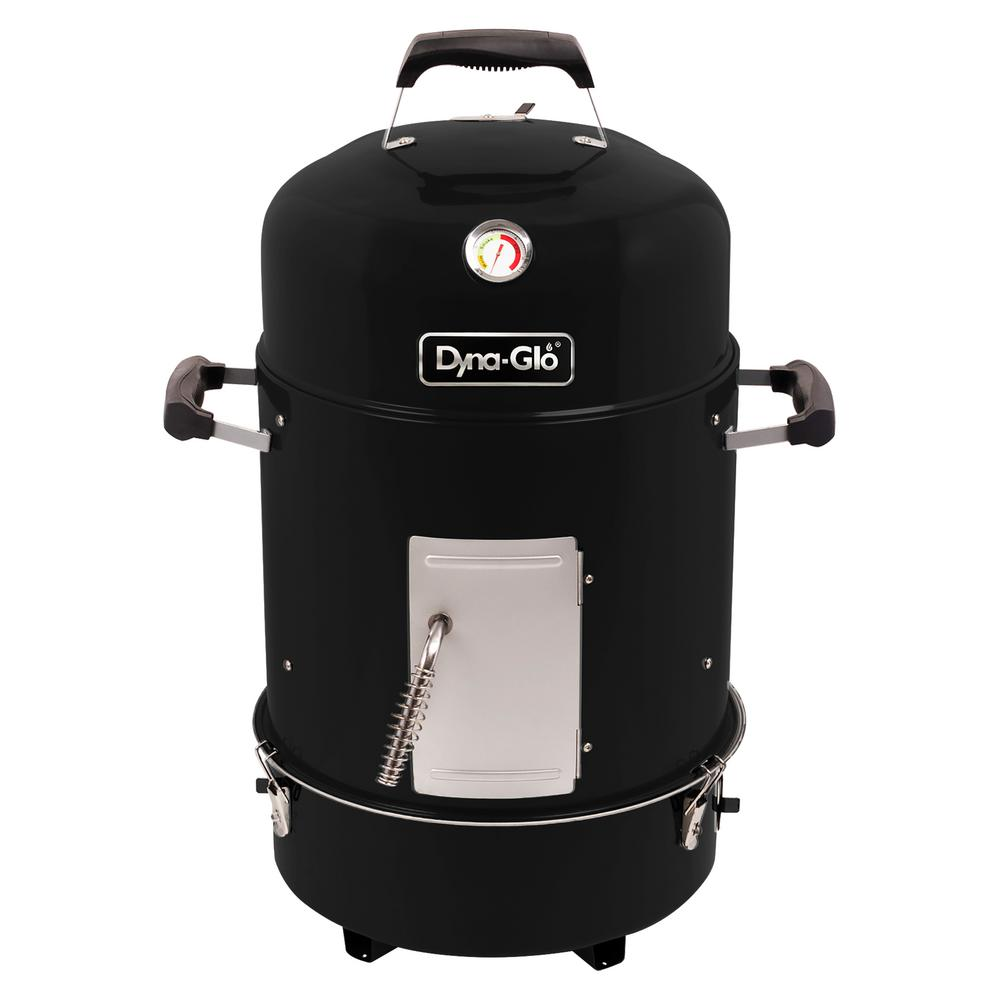 Compact Charcoal Bullet Smoker in High Gloss Black