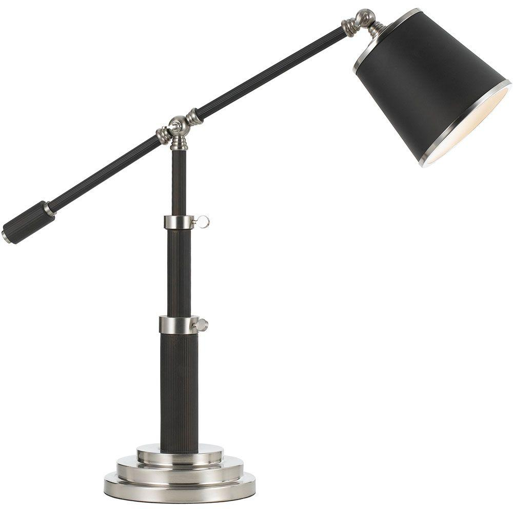 Scope 30 in. Oil-Rubbed Bronze Adjustable Pivot Table Lamp
