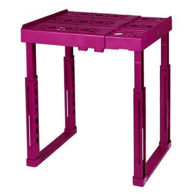 12 in. W x 14 in. H x 10 in. D Adjustable Locker Shelf in Magenta