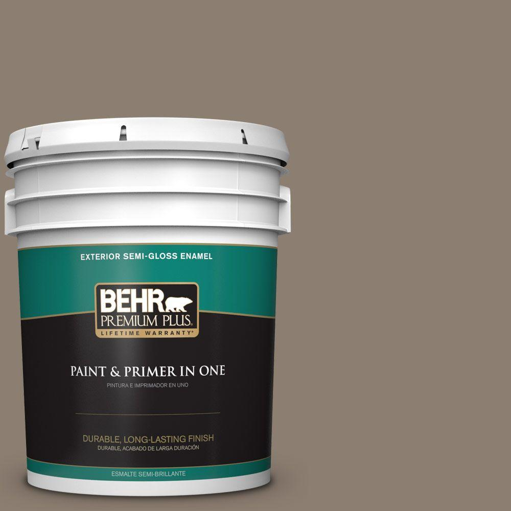 5-gal. #BNC-36 Restful Brown Semi-Gloss Enamel Exterior Paint