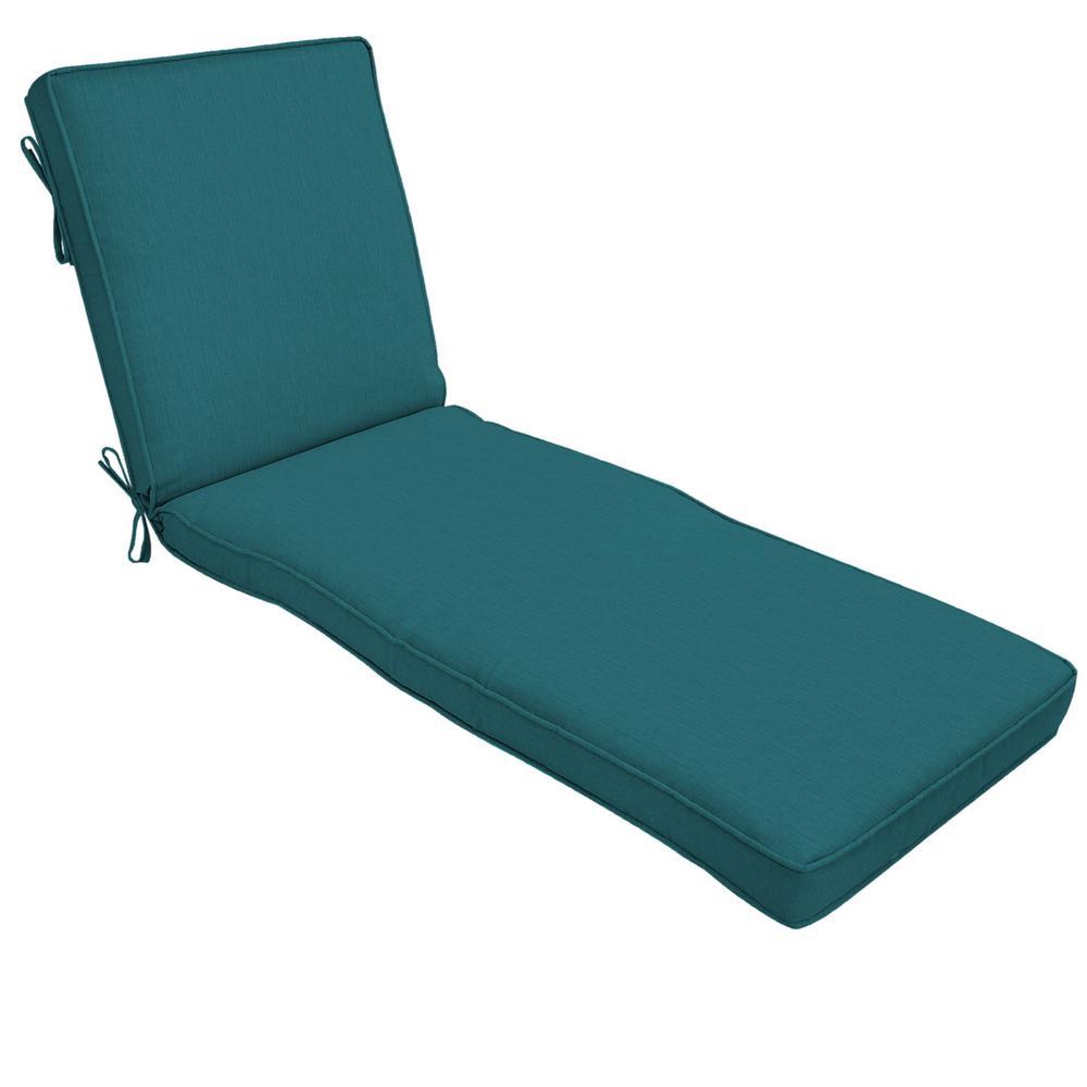 22 x 74 Sunbrella Spectrum Peacock Outdoor Chaise Lounge Cushion