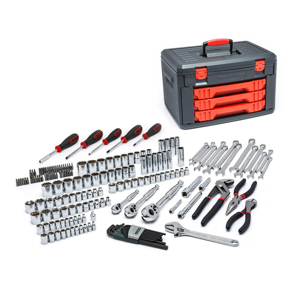 1/4 in. and 3/8 in. Drive Mechanics Tool Set (143-Piece)