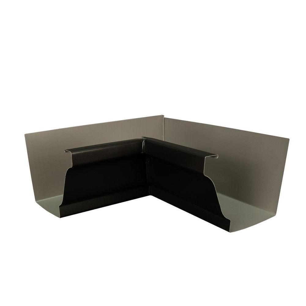 Amerimax Home Products 6 in. AMP Dark Bronze Aluminum Inside Box Gutter Miter