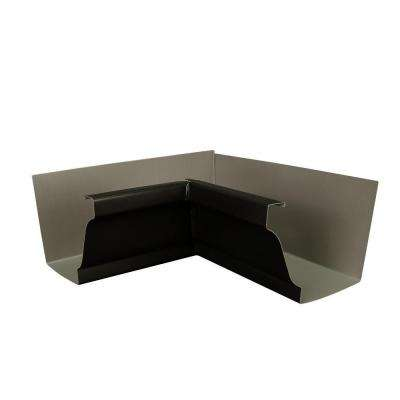 6 in. AMP Dark Bronze Aluminum Inside Box Gutter Miter