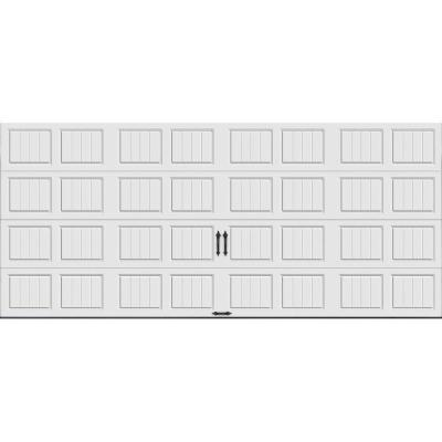 Gallery Collection 16 ft. x 7 ft. 18.4 R-Value Intellicore Insulated Solid White Garage Door