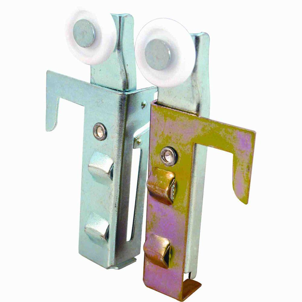Prime-Line Bypass Door Top-Hung Roller Assemblies (2-Pack)