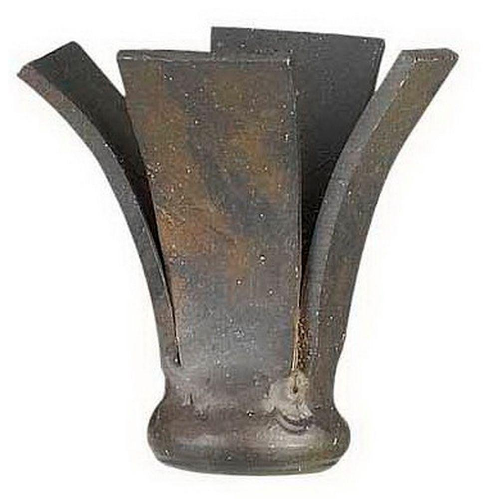 CAL Lighting 1.5 in. Brown Fence Metal Cast Lamp Finial