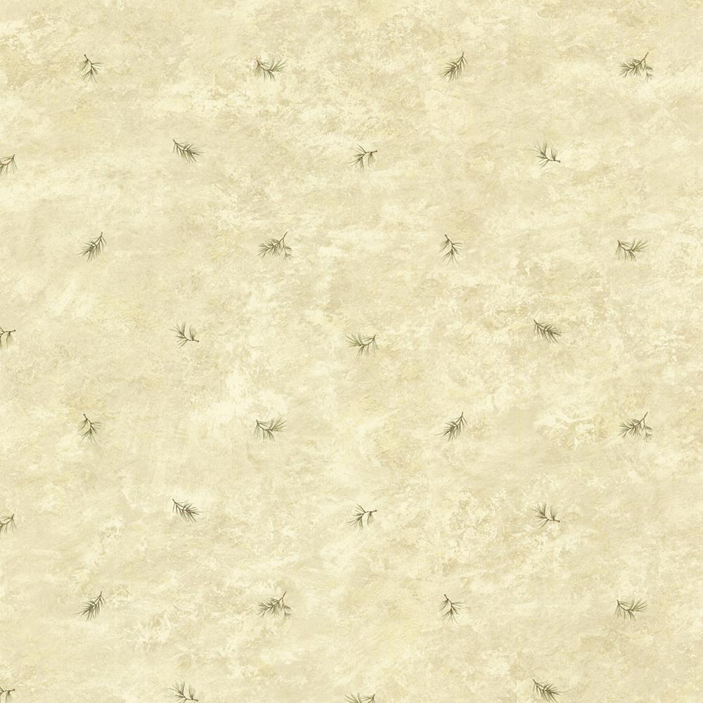 Pine Valley Sand Sprig Toss Wallpaper Sample
