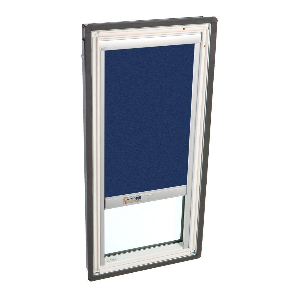 VELUX 21 in. x 45-3/4 in. Fixed Deck-Mounted Skylight w/LowE3 Glass Dark Blue Solar Powered Light Filter Blind-DISCONTINUED