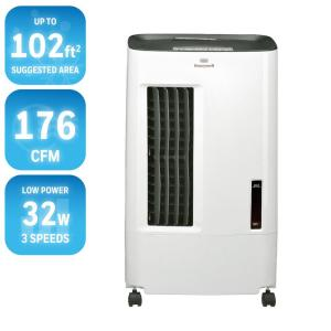 Click here to buy Honeywell 176 CFM 3-Speed Portable Evaporative Cooler for 102 sq. ft. by Honeywell.