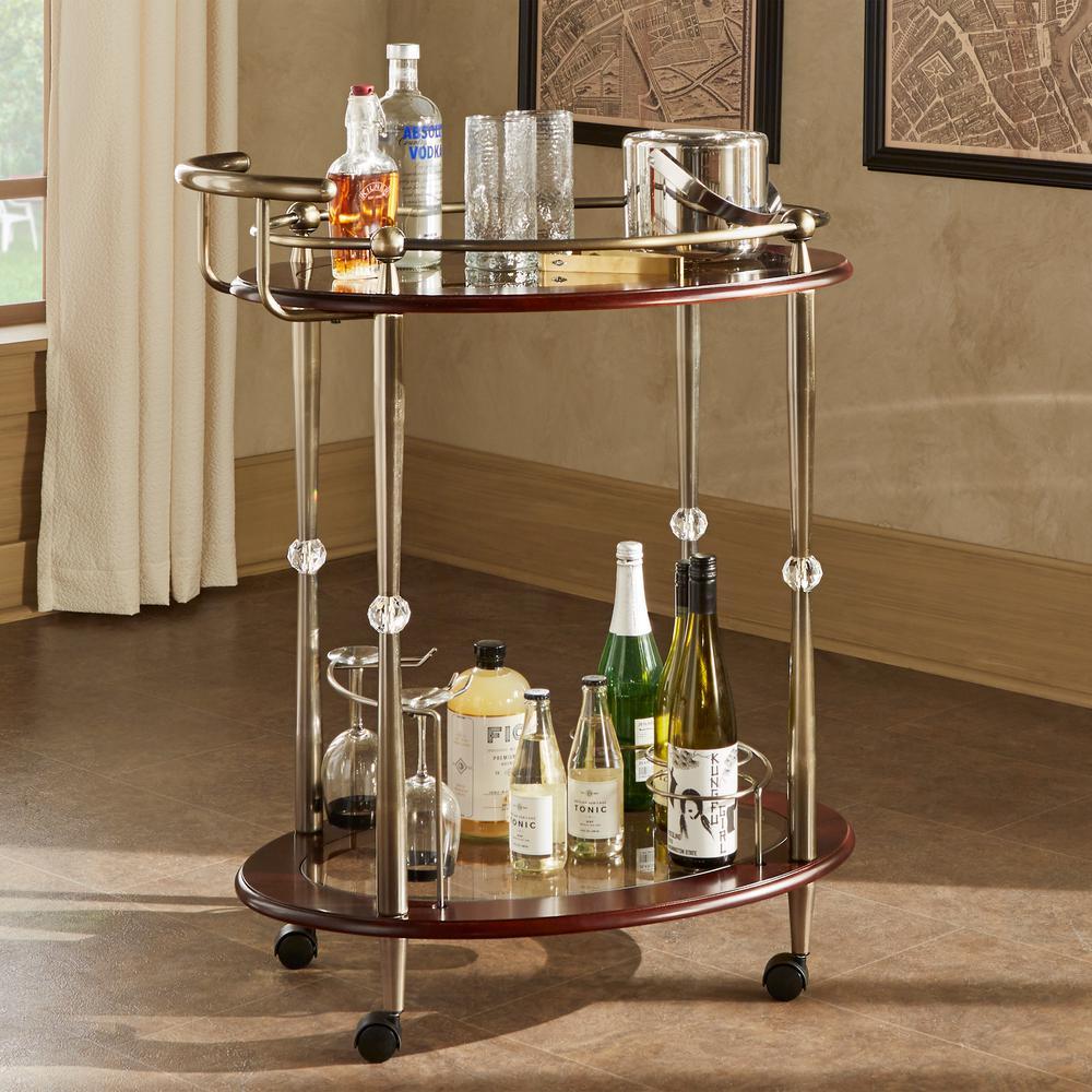 Aimee Antique Brass Bar Cart