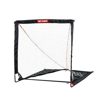 Net Playz 4 ft. x 4 ft. Portable Easy Setup/Fold Up Lacrosse Fiberglass Goal
