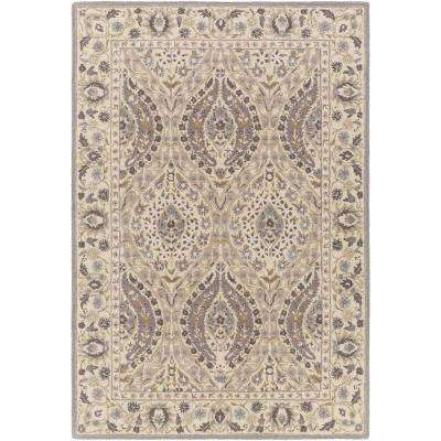 Korce Dark Purple 5 ft. x 8 ft. Indoor Area Rug