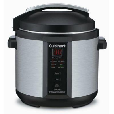 6 Qt. Black Stainless Steel Electric Pressure Cooker with Non-Stick Pot