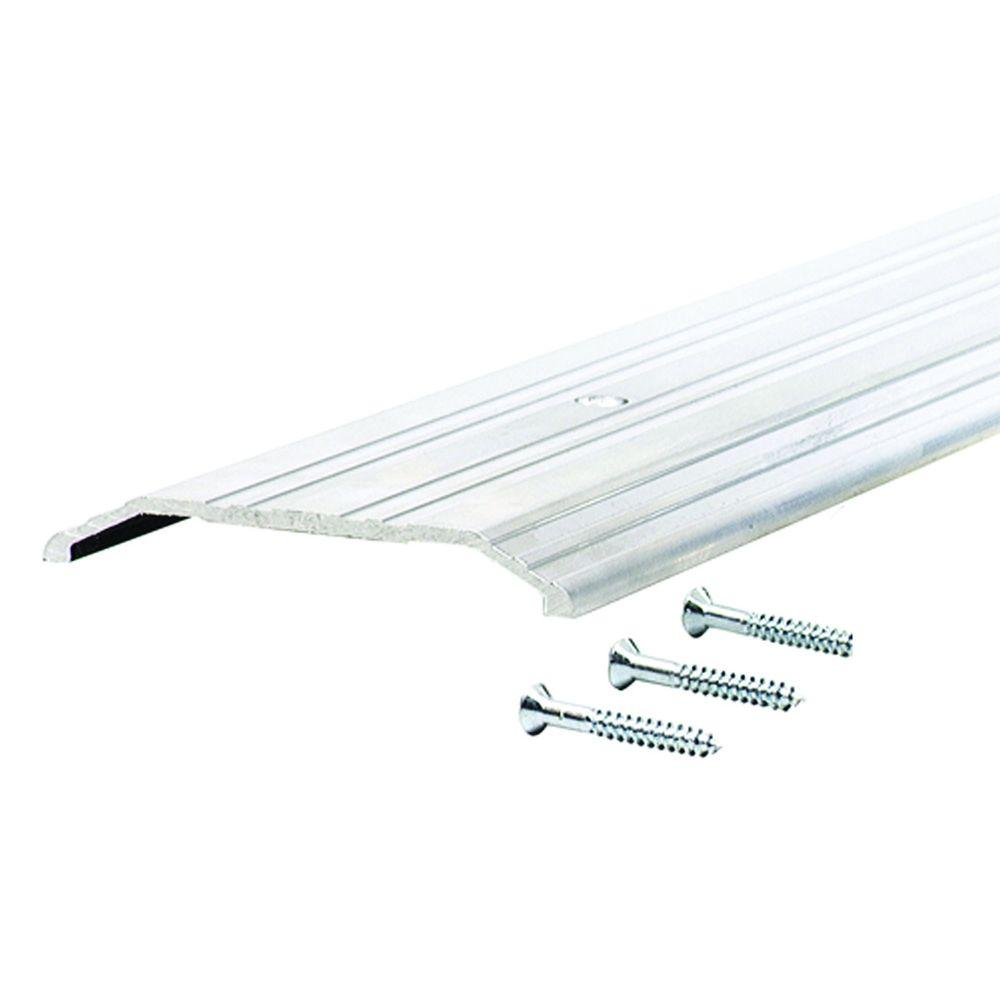 Fluted Saddle 4 in. x 36 in. Aluminum Commercial Threshold