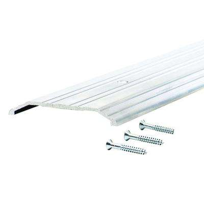 Fluted Saddle 4 in. x 60 in. Aluminum Commercial Threshold