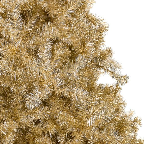Best Choice Products 6 Ft Gold Unlit Tinsel Artificial Christmas Tree Sky5562 The Home Depot