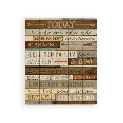 Graham Dunn I Can Do All Things Through Him 6 x 18 Burlap Wrapped Solid Wood Wall Art Sign P
