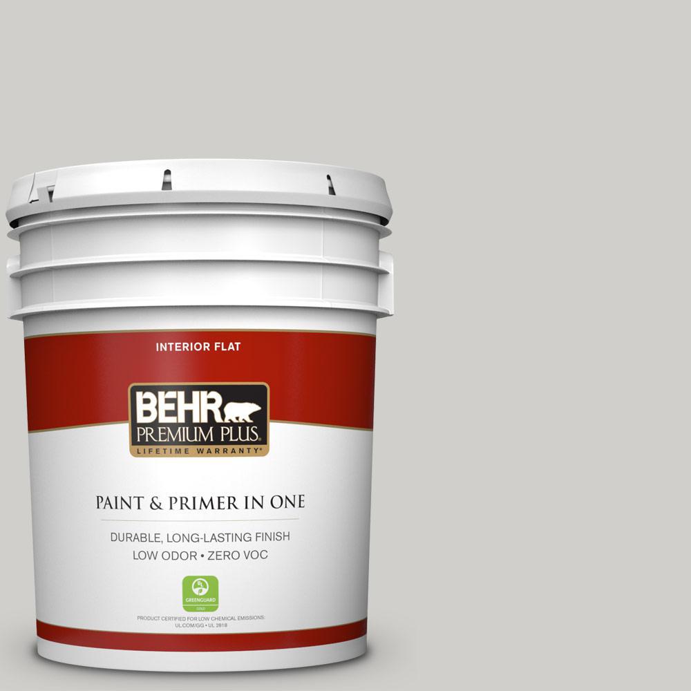 BEHR Premium Plus 5-gal. #PPF-18 Gazebo Gray Zero VOC Flat Interior Paint