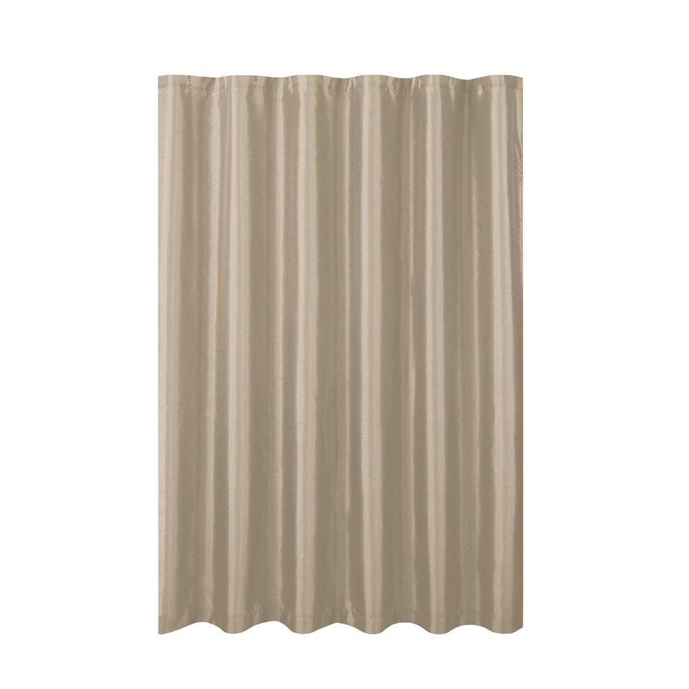 Creative Home Ideas Jane Faux Silk 70 in. W x 72 in. L Shower ...