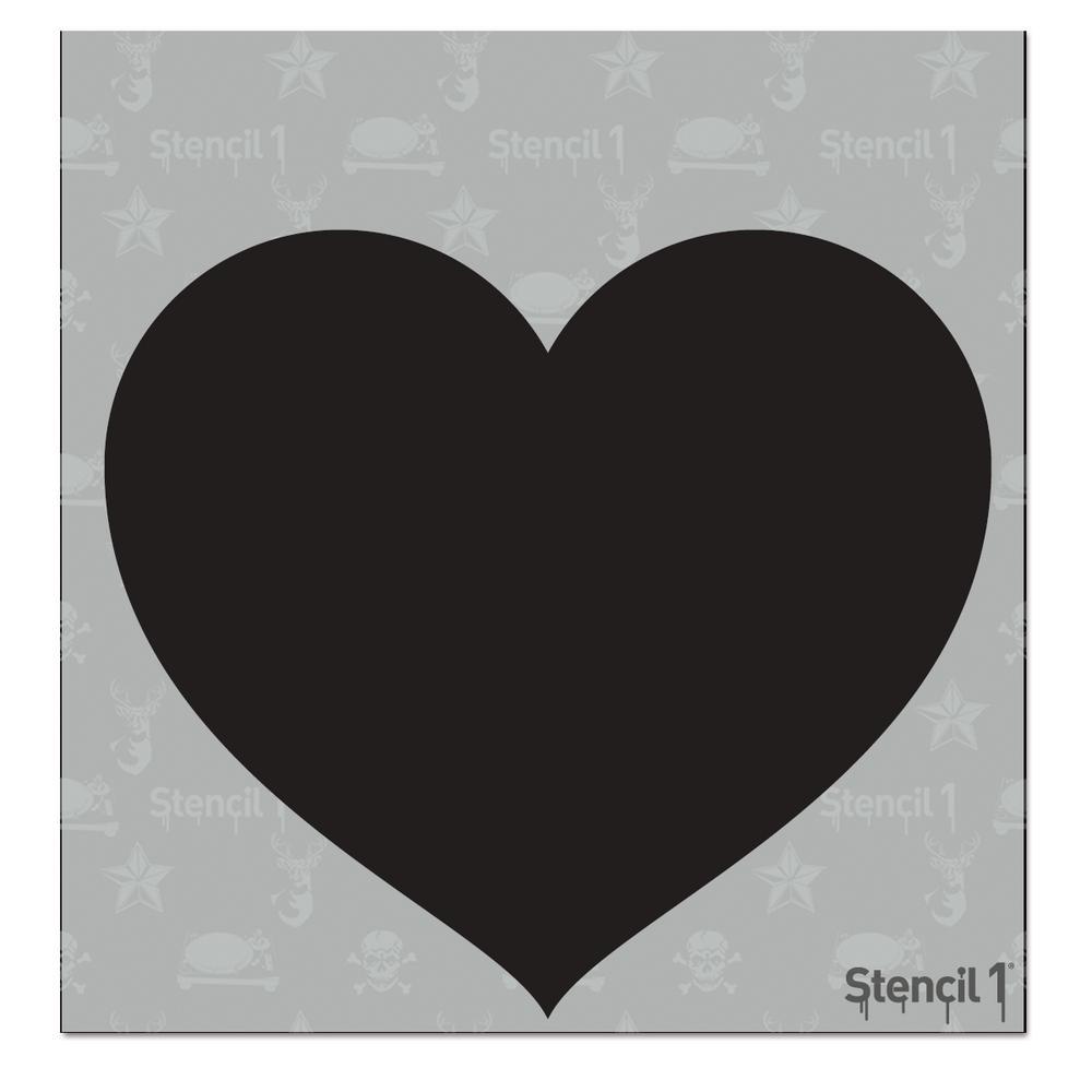 Tattoo Heart Small Stencil