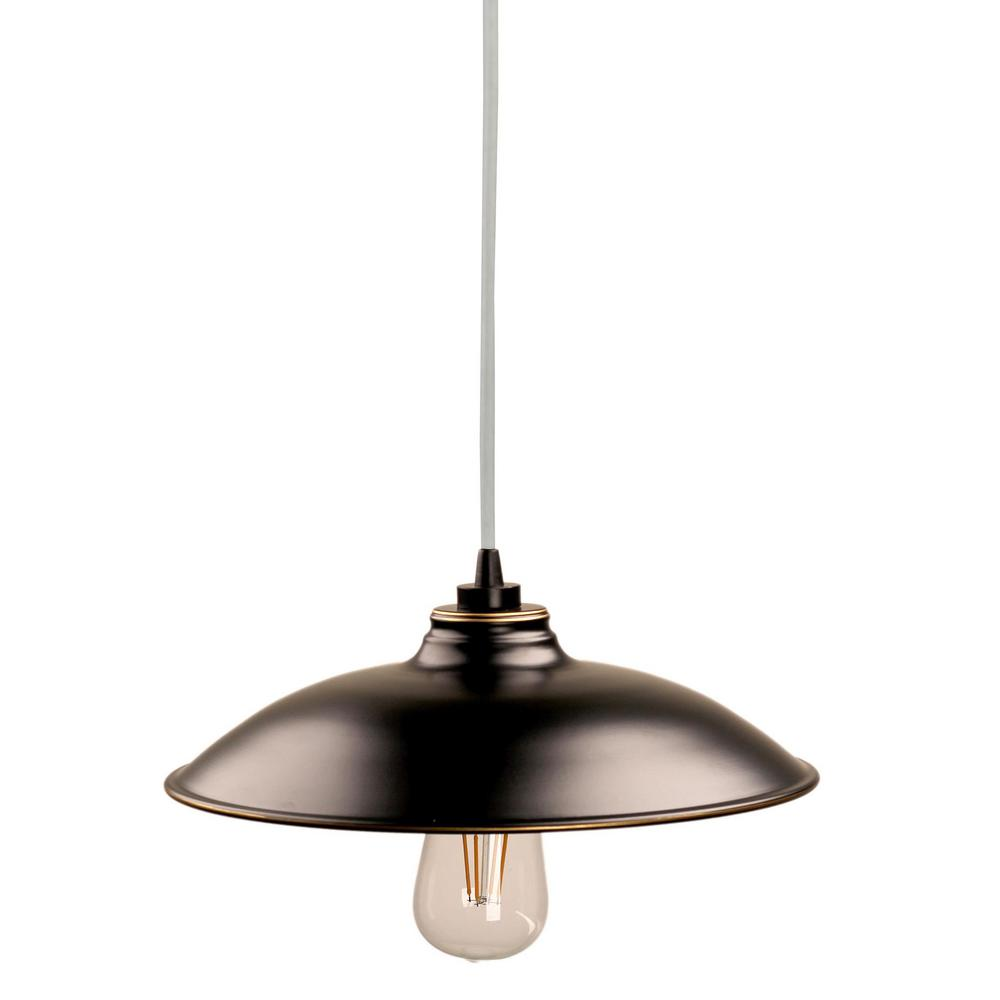 Jayden 1 Light Imperial Black Outdoor Hanging
