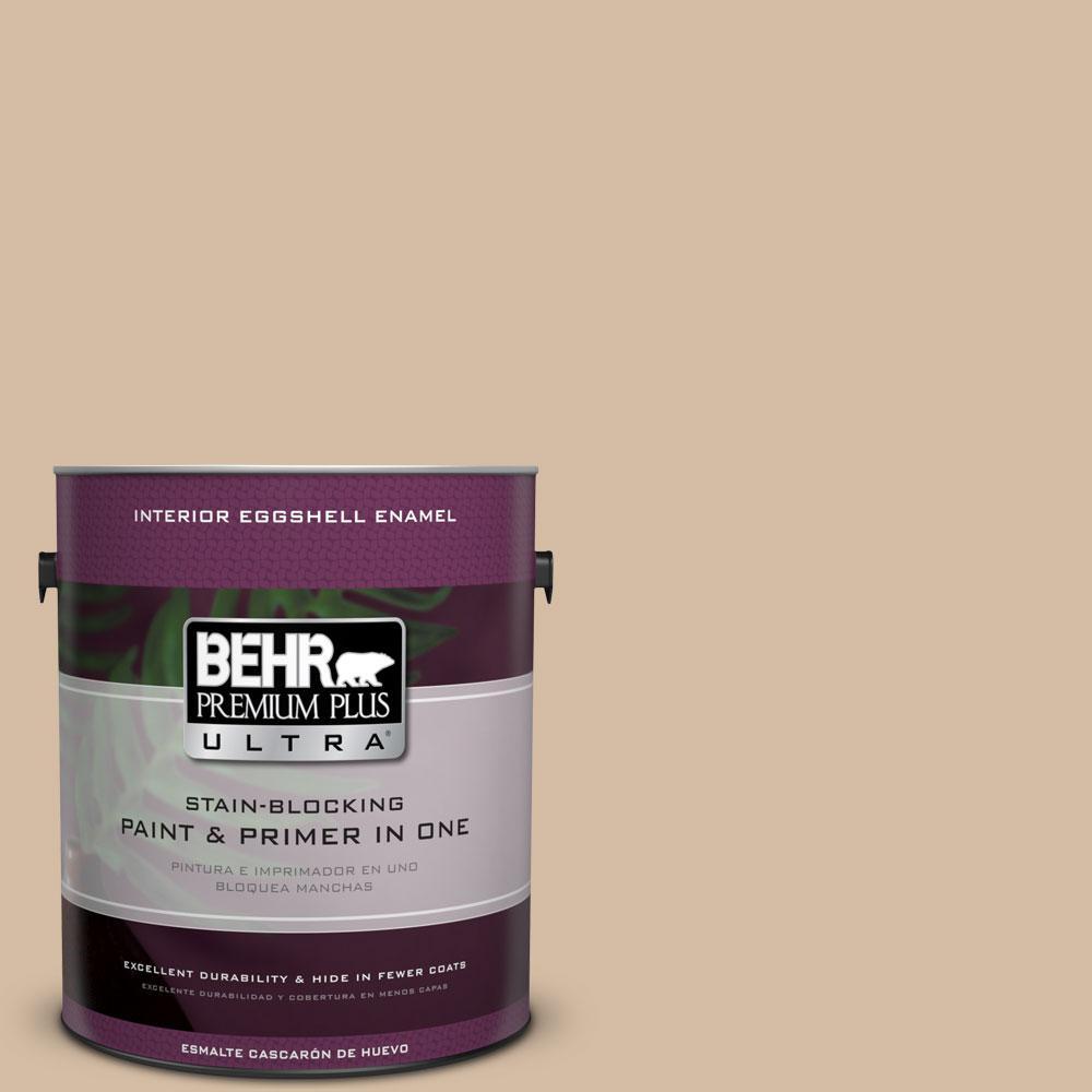 BEHR Premium Plus Ultra 1-gal. #PWL-86 Nutty Beige Eggshell Enamel Interior Paint