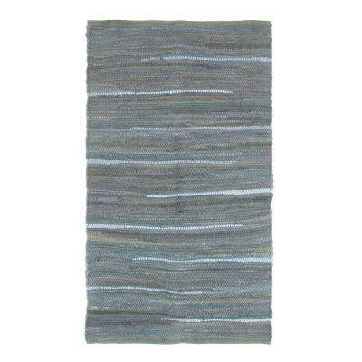 Chindi Tonal Grey 1 ft. 9 in. x 2 ft. 10 in. Area Rug