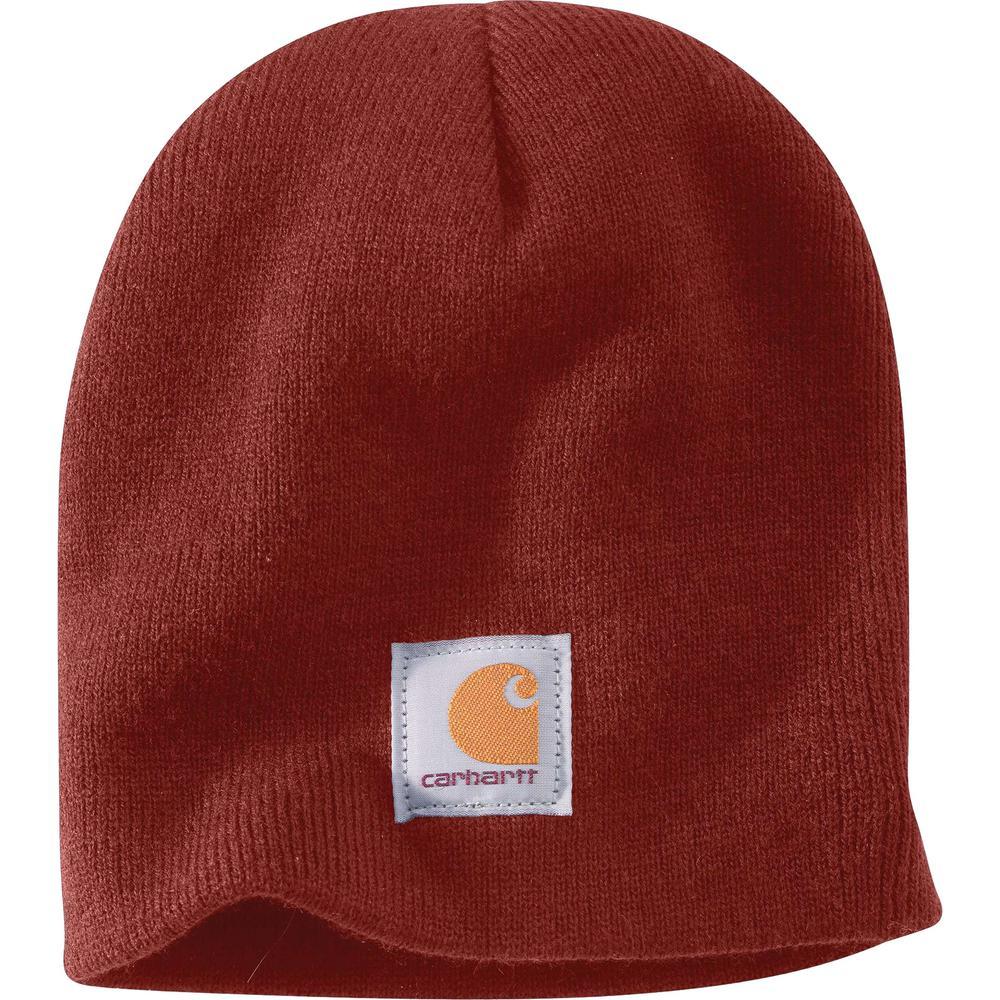 221bb399c Carhartt Men's OFA Fired Brick Acrylic Knit Hat
