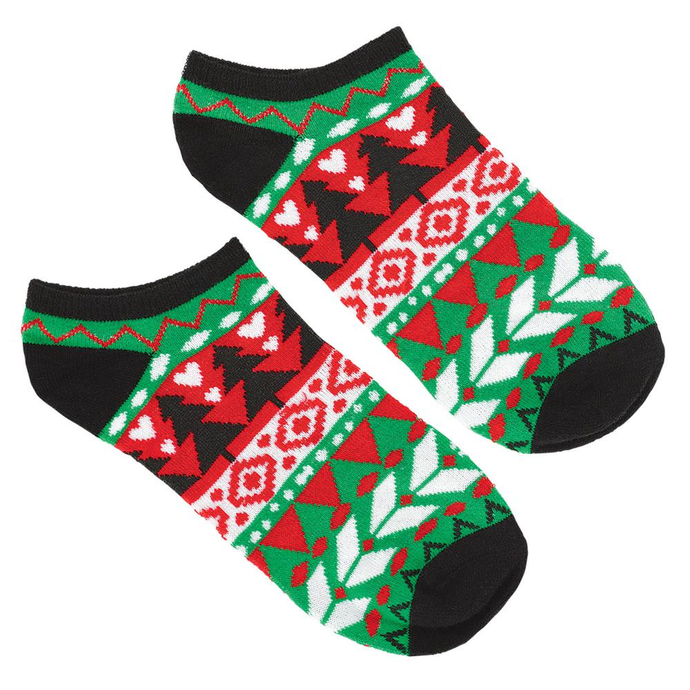 Ugly Sweater Christmas.Amscan Ugly Sweater Christmas No Show Socks 2 Count 8 Pack