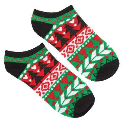 Ugly Sweater Christmas No Show Socks (2-Count, 8-Pack)
