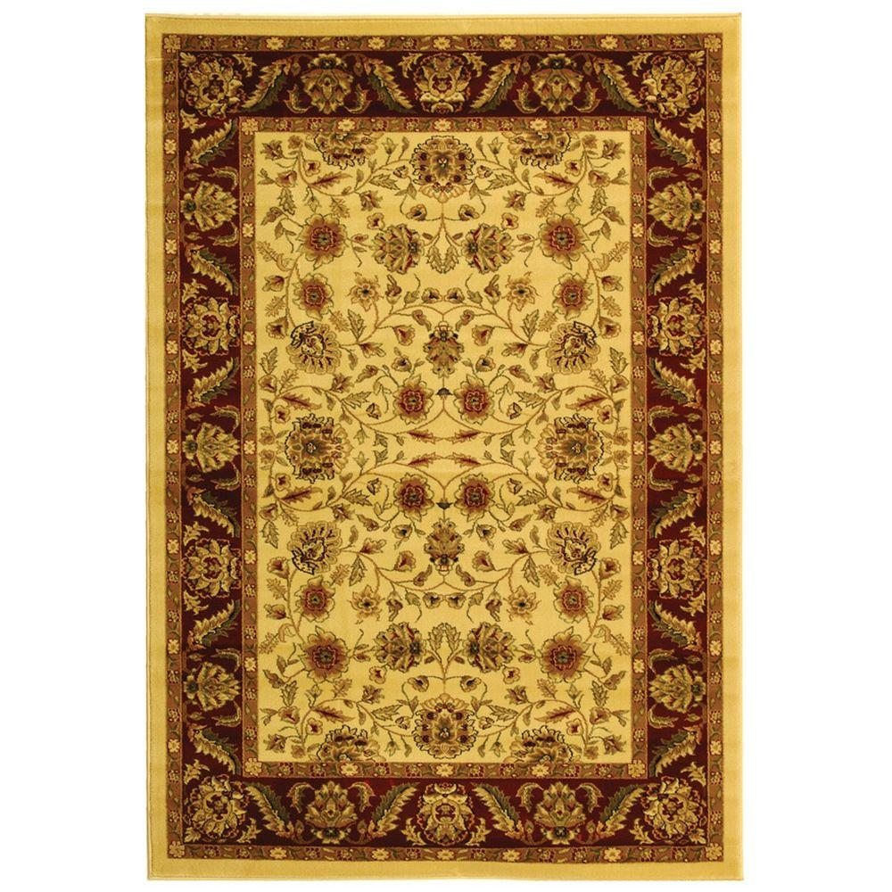 Safavieh Lyndhurst Ivory Red 3 Ft In X 5 Area Rug Lnh215a The Home Depot