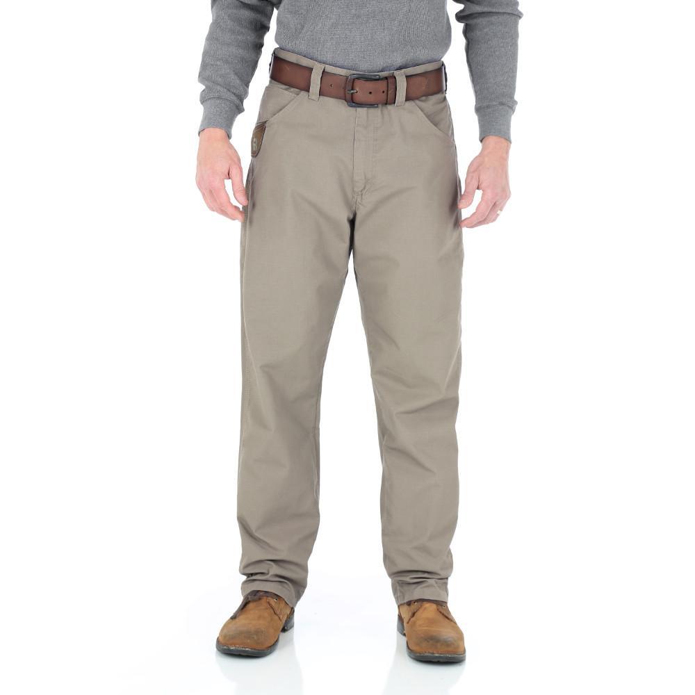 Men's Size 38 in. x 32 in. Dark Khaki Technician Pant