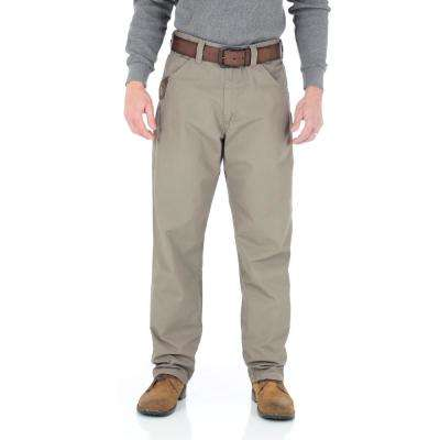 Men's Size 32 in. x 32 in. Dark Khaki Technician Pant