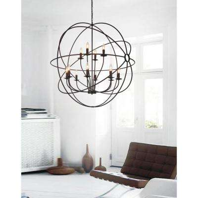 Brown chandeliers lighting the home depot arza 12 light brown chandelier aloadofball Gallery