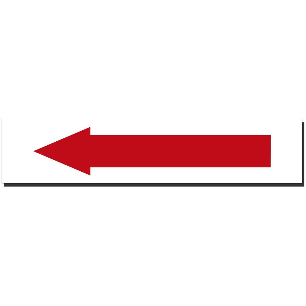 14 in. x 3 in. Arrow Sign Printed on More Durable,