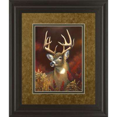 """34 in. x 40 in. """"Deer Portrait"""" by Leo Stans Framed Printed Wall Art"""