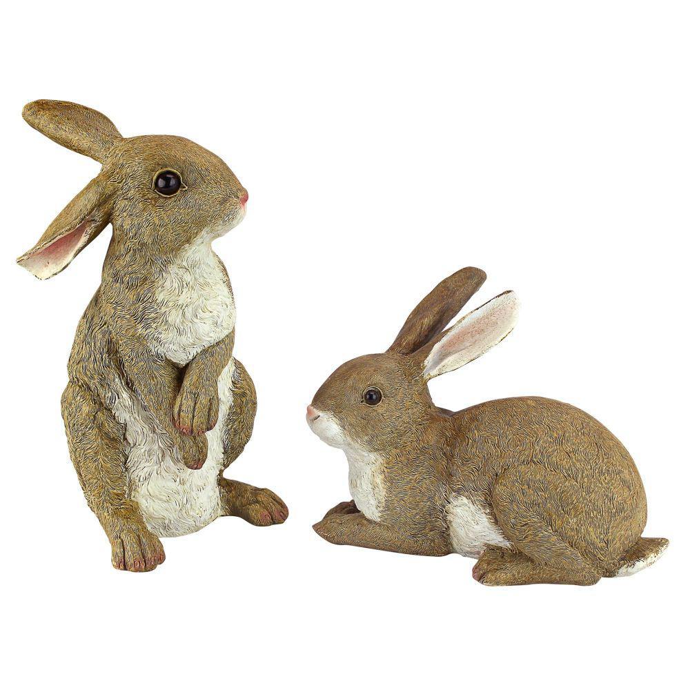 Bashful and Hopper Garden Bunnies Statue Collection Set (2-Piece)