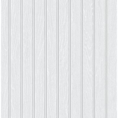 Off-White Beadboard Faux Peel and Stick Wallpaper 30.75 sq. ft.