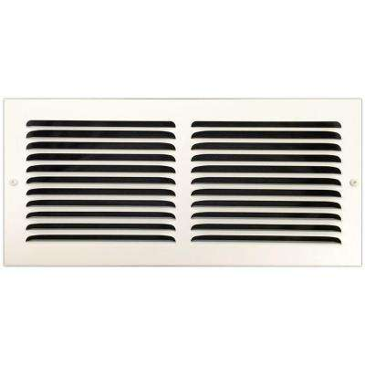 14 in. x 6 in. Base Board Return Air Vent Grille with Fixed Blades, White