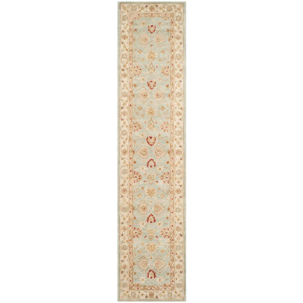 Safavieh Antiquity Grey Blue Beige 2 Ft X 16 Ft Runner Rug At822a