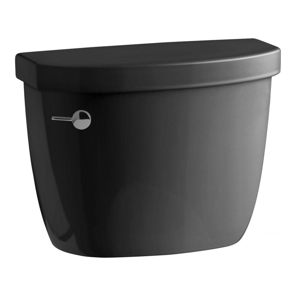 Cimarron 1.28 GPF Single Flush Toilet Tank Only with AquaPiston Flushing Technology in Black Black
