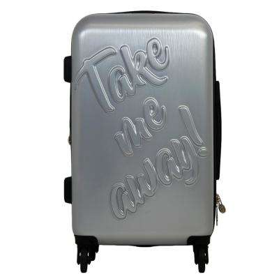 Take Me Away 29 in. Silver Rolling Luggage Suitcase
