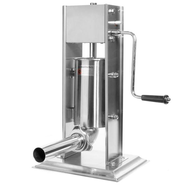 5 lb. Stainless Steel Meat Filler Vertical Sausage Stuffer Maker