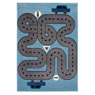 whimsical soft bluelight blue 5 ft x 7 ft indoor area rug
