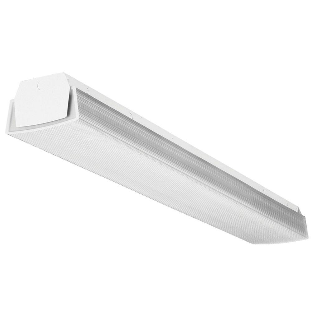 Lithonia Lighting 2-Light White Fluorescent Wraparound