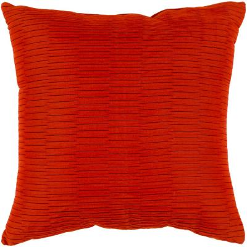 Gordon Orange Geometric Polyester 20 in. x 20 in. Throw Pillow